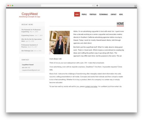 Tesla theme WordPress free - copywesthawaii.com