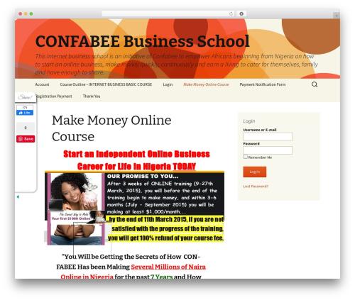 Twenty Thirteen free WP theme - confabeebusinessschool.com
