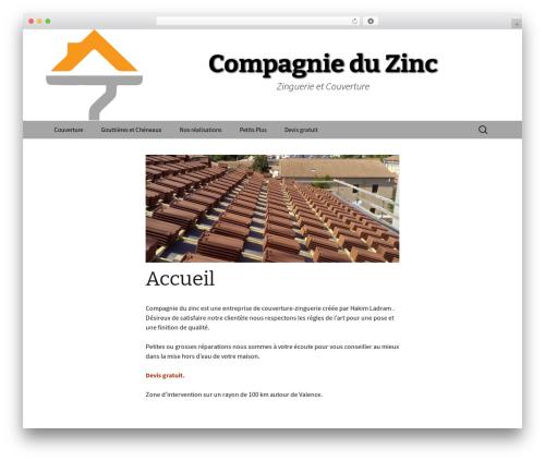 Twenty Thirteen WordPress theme design - compagnieduzinc.fr