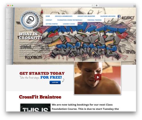 CrossFit WordPress page template - crossfitbraintree.com