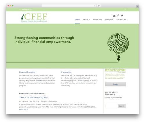 Divi WordPress theme - communityfef.org