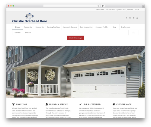 Enfold theme WordPress - christieoverheaddoor.com