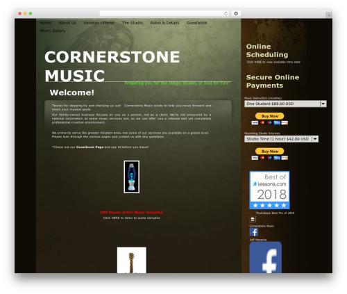 Organic template WordPress - cmi-music.com
