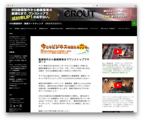 Sequel WordPress theme - crout.biz