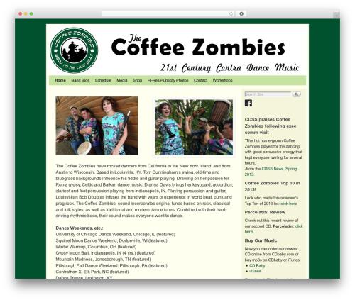 Weaver II premium WordPress theme - coffee-zombies.com