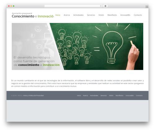 WordPress template Impreza (shared on themelot.net) - conocimientoeinnovacion.org