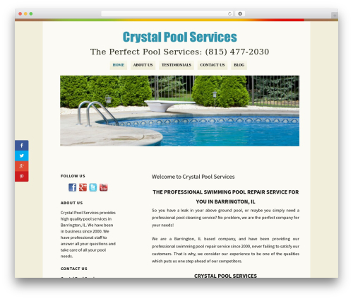 WordPress theme Rockers - crystalpoolsvc.com