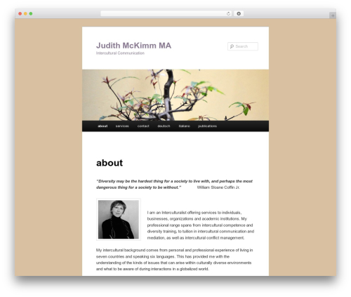 WordPress website template Twenty Eleven - crosscultural-communication.com