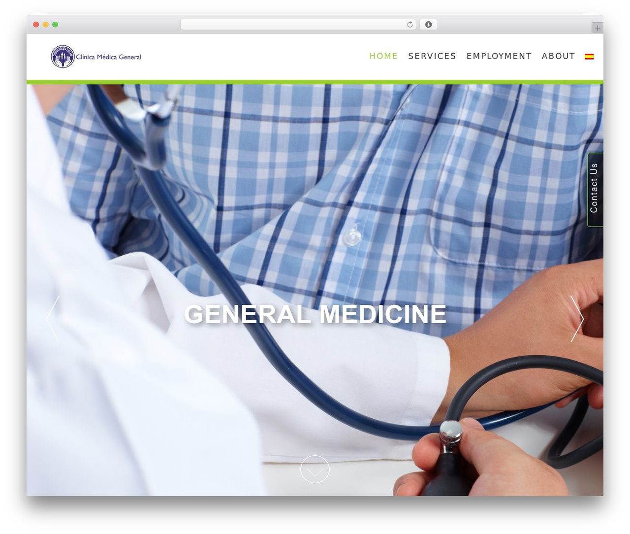 AccessPress Parallax free WP theme - clinicadrdaniel.com