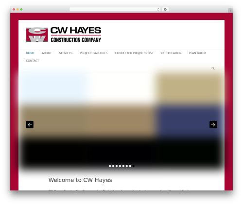 Catch Base Pro business WordPress theme - cwhayesconstruction.com