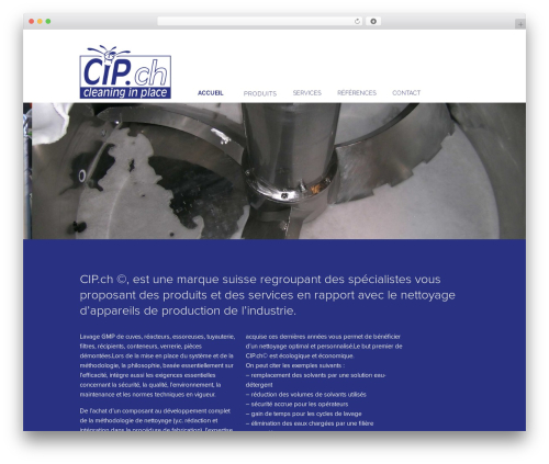 cip WordPress theme - cleaninginplace.ch