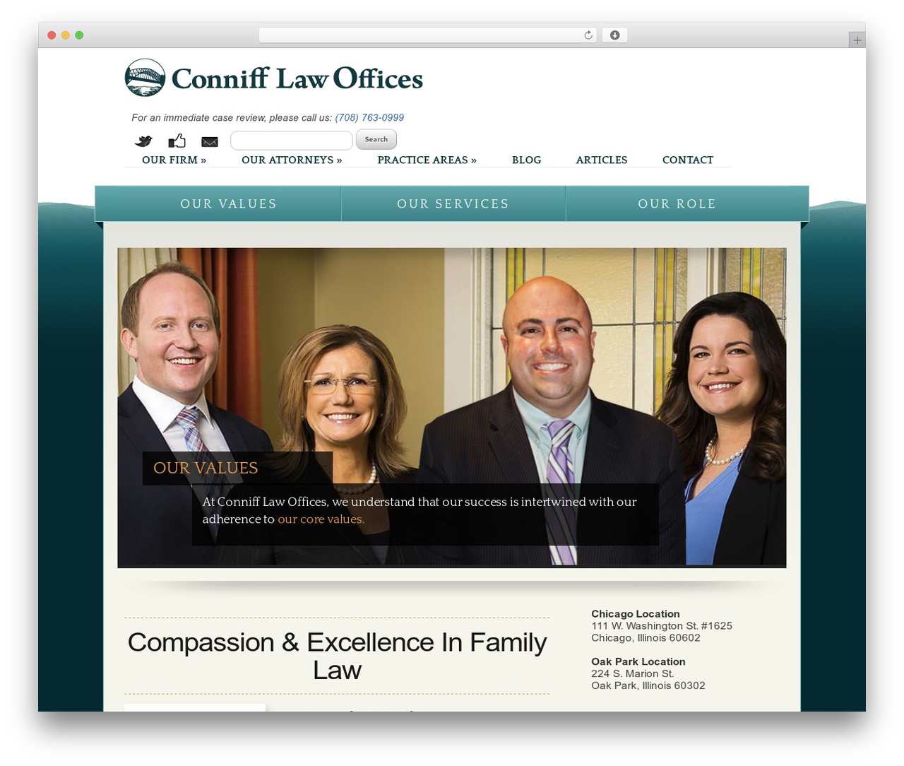 Conniff Law template WordPress - connifflaw.com