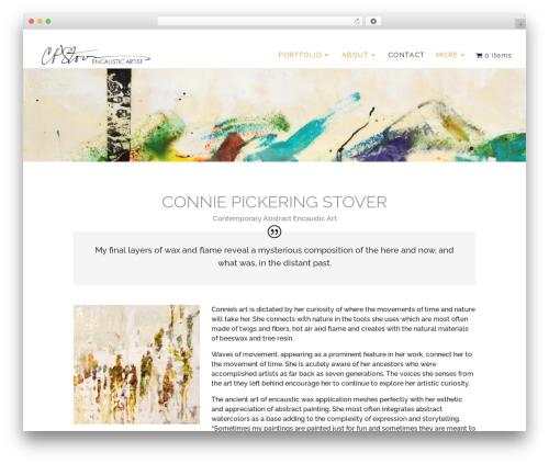 Divi WordPress ecommerce template - conniepickeringstover.com
