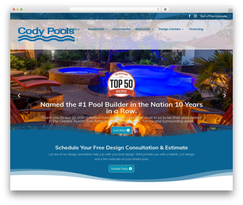 Divi WordPress template for business - codypools.com