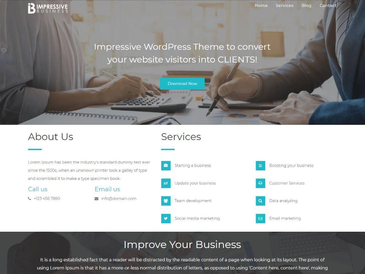 Impressive Business business WordPress theme