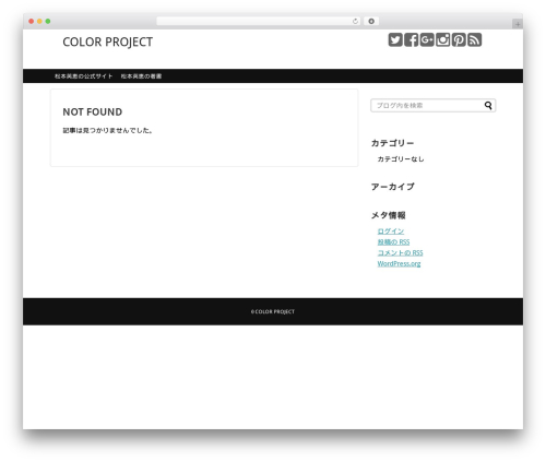 Simplicity2 template WordPress - color-project.com