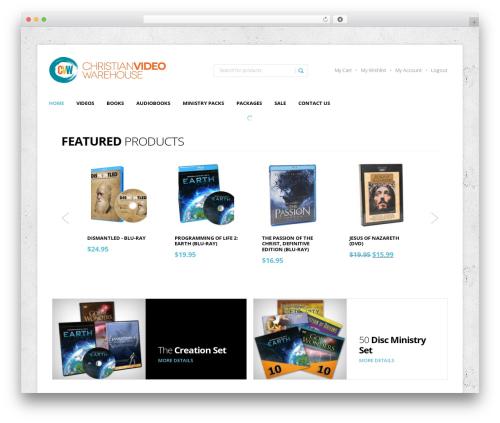 StoreBox WordPress movie theme - christianvideowarehouse.com