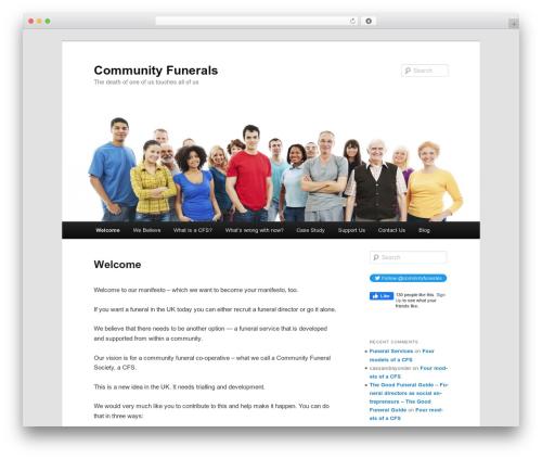 Twenty Eleven best WordPress template - communityfunerals.org.uk