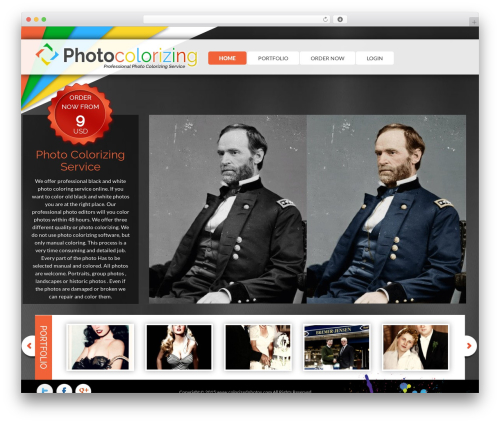 Free WordPress WordPress Picture / Portfolio / Media Gallery plugin - colorizedphotos.com