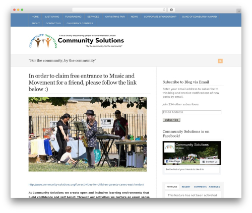 WP-Brilliance WordPress theme design - community-solutions.org