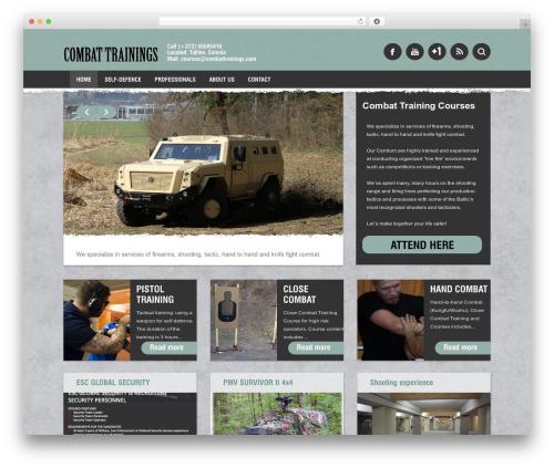 Barcelona premium WordPress theme - combattrainings.com