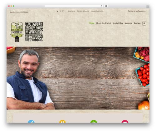 Organic Web Shop WordPress shop theme - croftonfarmersmarket.com