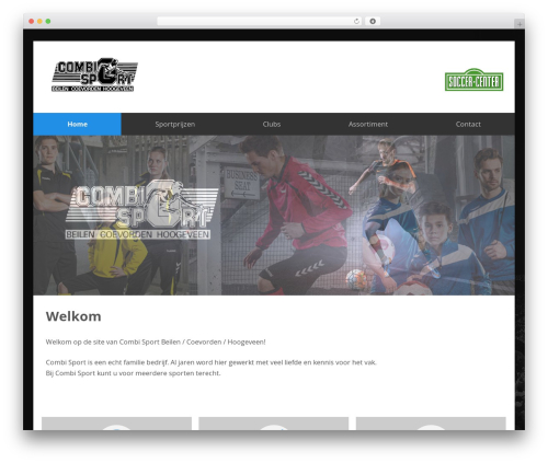 SmartShop theme WordPress - combisport.nl