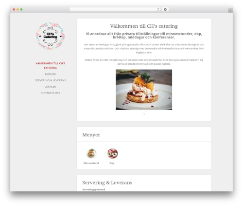 Solo WordPress page template - chscatering.se