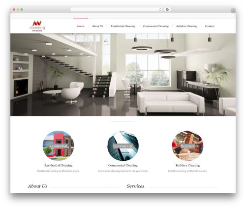 Template WordPress Lounge - cleaningmiracles.com.au