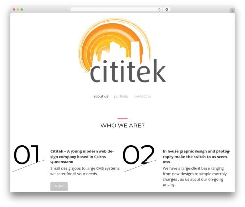 Theme WordPress Cherry Framework - cititek.com.au