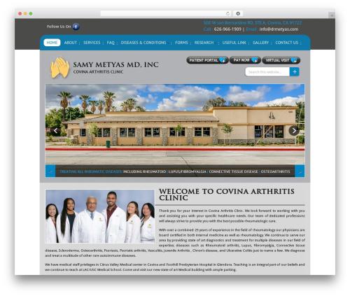 WordPress theme Samy Metyas MD, Inc - covinaarthritisclinic.com