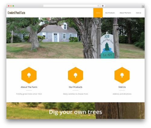 Advertica Lite free website theme - crookedpondfarm.com