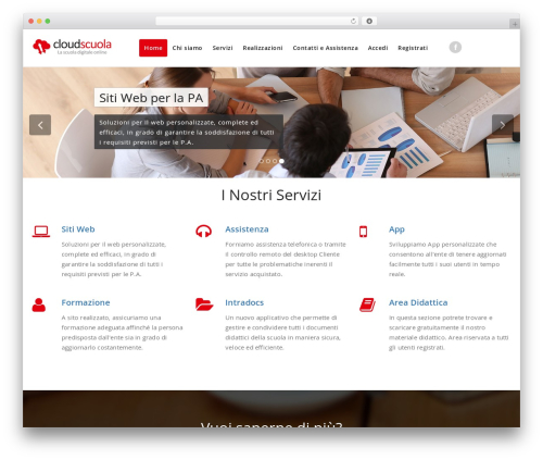 Appointment free WP theme - cloudscuola.it