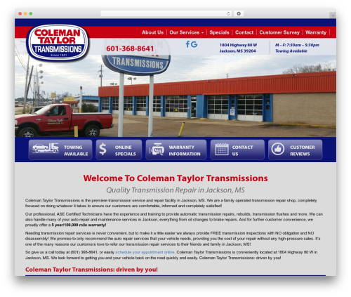 Autoshop Solutions Child best WordPress template - colemantaylorjacksonms.com