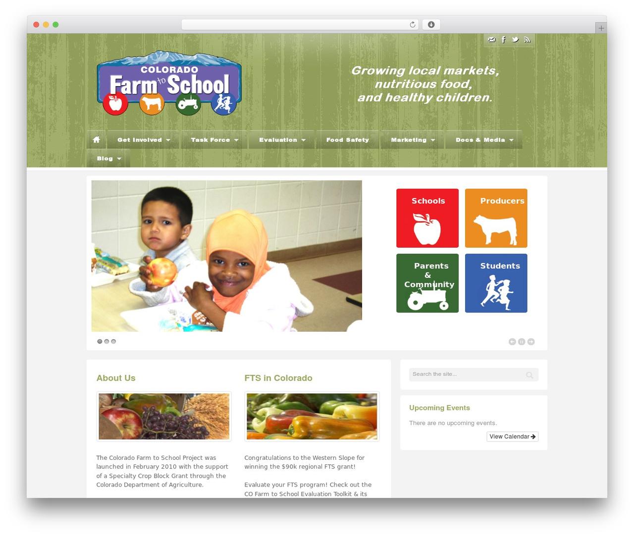 Barely Corporate template WordPress - coloradofarmtoschool.org