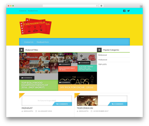 Best WordPress template Reviewgine Affiliate - cinemaddicts.in