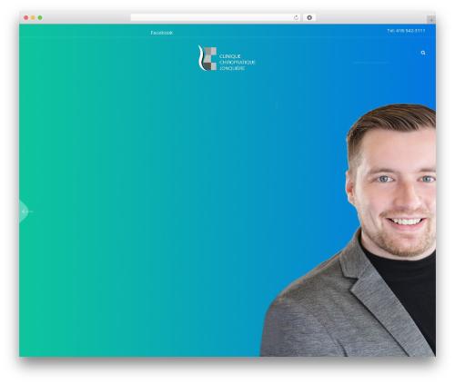 Beyoutiful WordPress theme design - chiropratiquejonquiere.com
