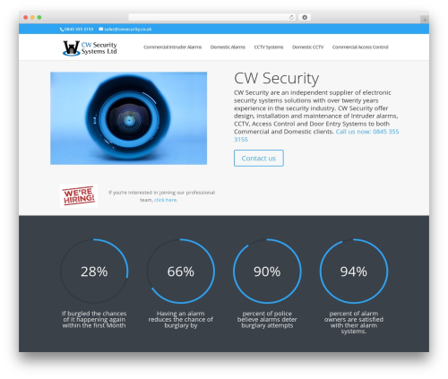 Divi WordPress theme - cwsecurity.co.uk