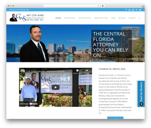 Enfold WordPress website template - cwsmithlaw.com