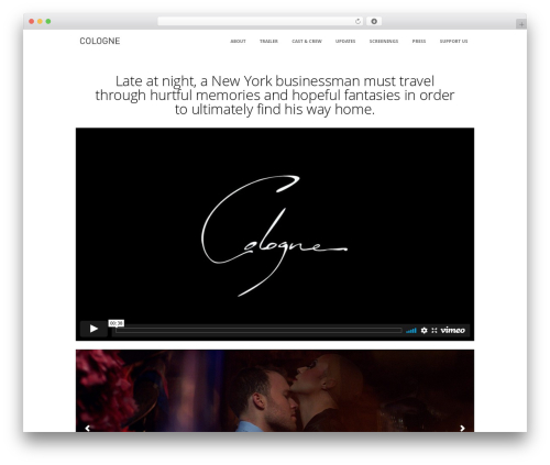 Immersion WordPress page template - colognefilm.com
