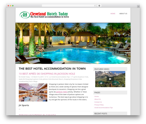 NatureSpace template WordPress free - clevelandhotelstoday.com