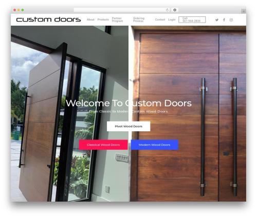 Salient premium WordPress theme - customdoors.com