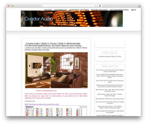 WordPress theme Jessica Fletcher Redux - condoraudio.com