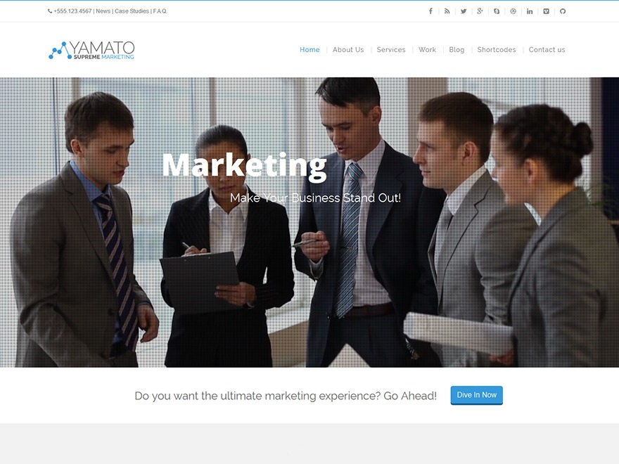 WP Yamato WordPress news theme