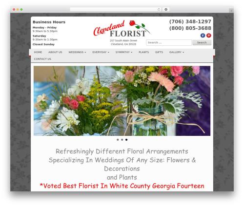 Your Web Layout best WordPress theme - clevelandflorist.net