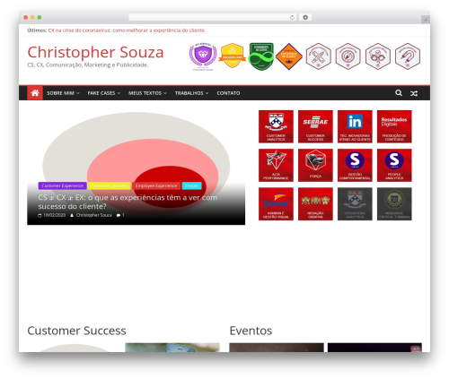 ColorMag free WP theme - christophersouza.com.br