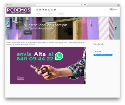 Customizr WordPress theme - circulo.podemostorrejon.info