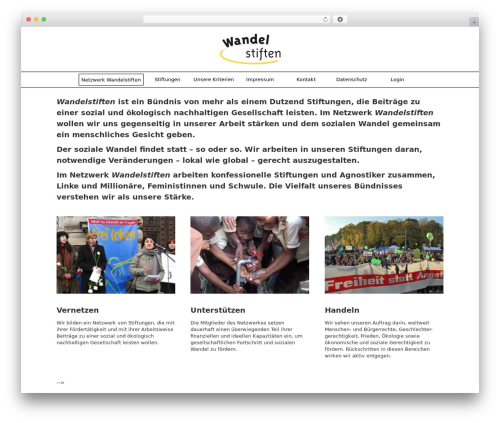 Grid Theme Responsive premium WordPress theme - wandelstiften.de