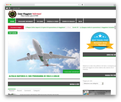 RapidNews WordPress news template - comeviaggiareinformati.it