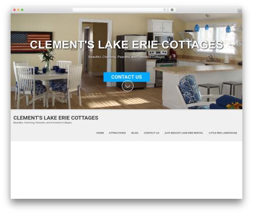 SKT White template WordPress - clementslakeeriecottages.com